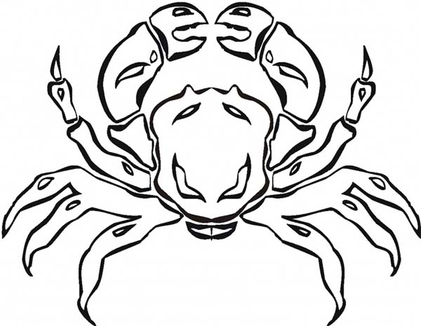 Crab Coloring Page Sun