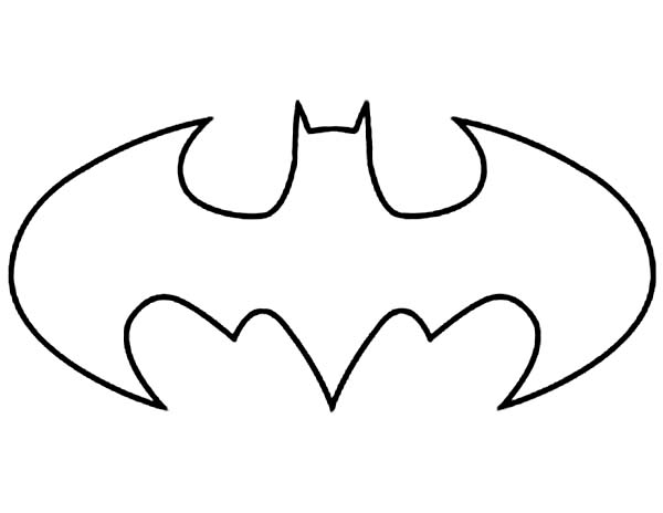 Batman Logo Coloring Page Sun