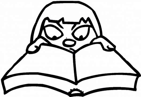 download print it - Open Book Coloring Page