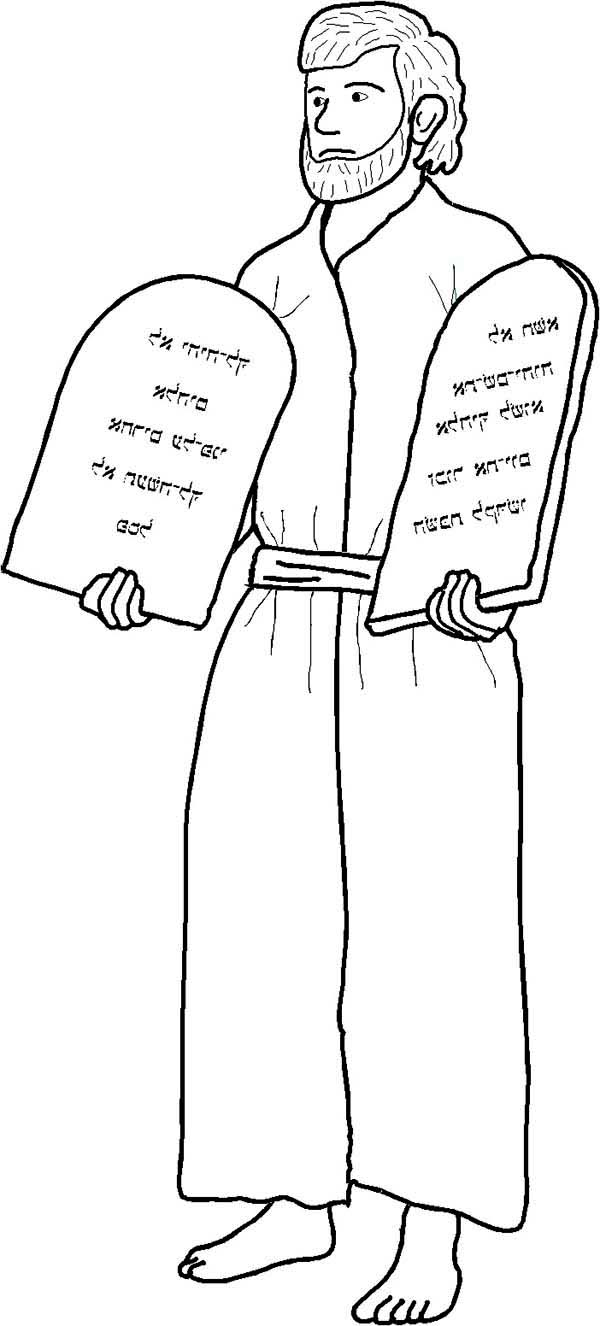 Coloring pages moses and ten commandments - Ten Commandments Drawing Moses And Ten Commandments Coloring Page Drawing Moses And Ten Commandments