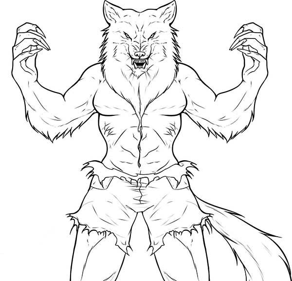 cartoon coloring pages latest princess creepy werewolf coloring page