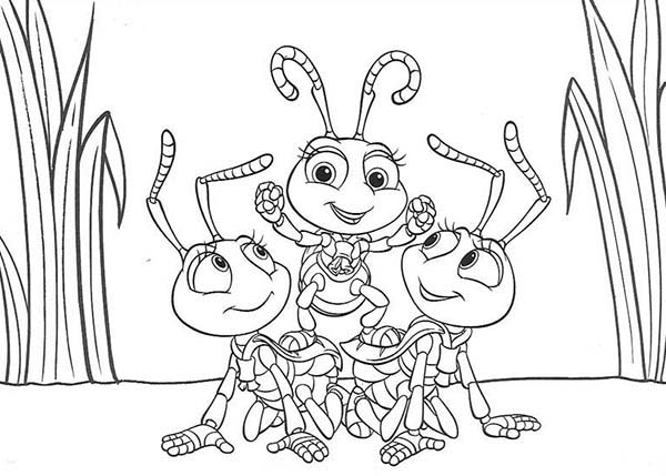 Bugs, : A Bugs Life Coloring Page