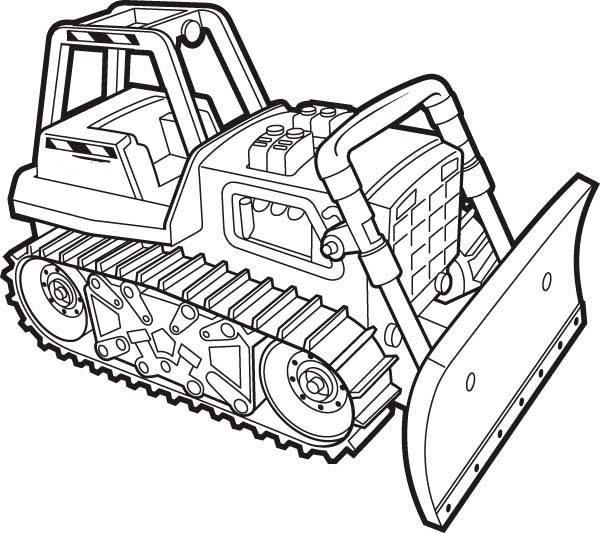 A Working Bulldozer Coloring Page Coloring Sun