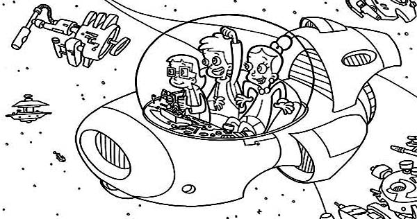 Adventure Of Cyberchase Coloring Page