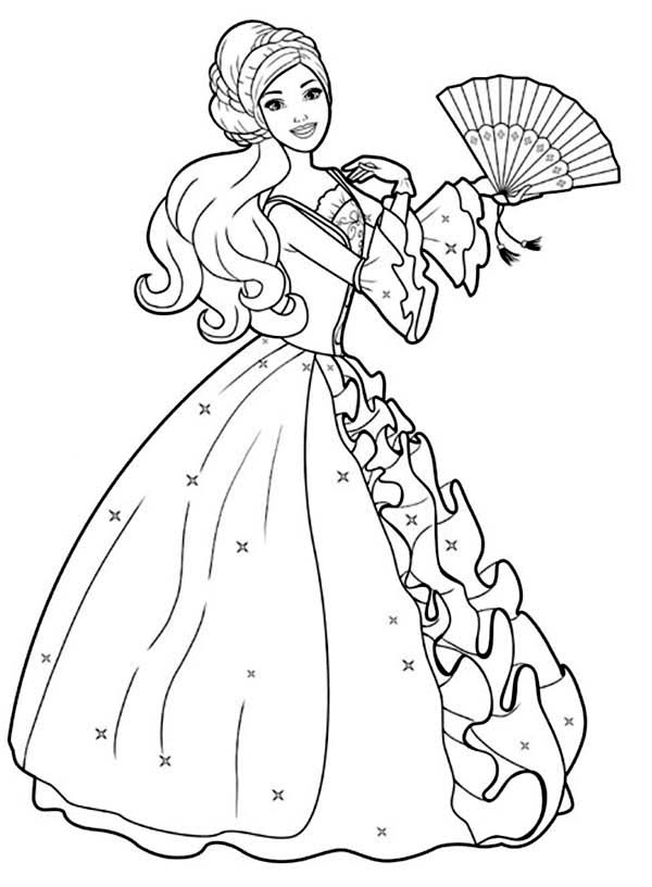 Barbie Doll, : Amazing Drawing Barbie Doll Coloring Page
