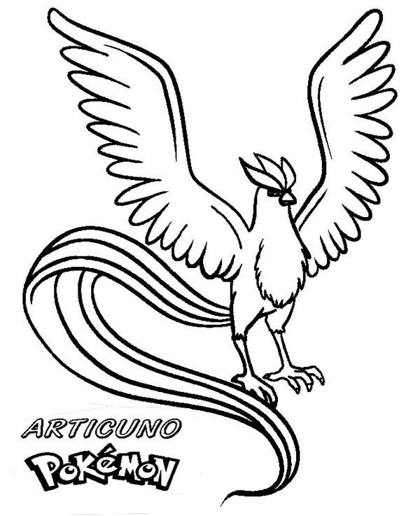Articuno, : Amazing Picture of Articuno Coloring Page
