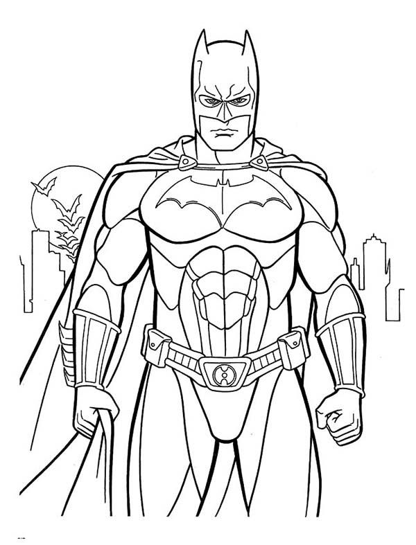 Batman, : Amazing Picture of Batman Coloring Page