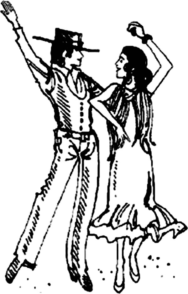 Dance, : Argentinian Tango Dance Coloring Page