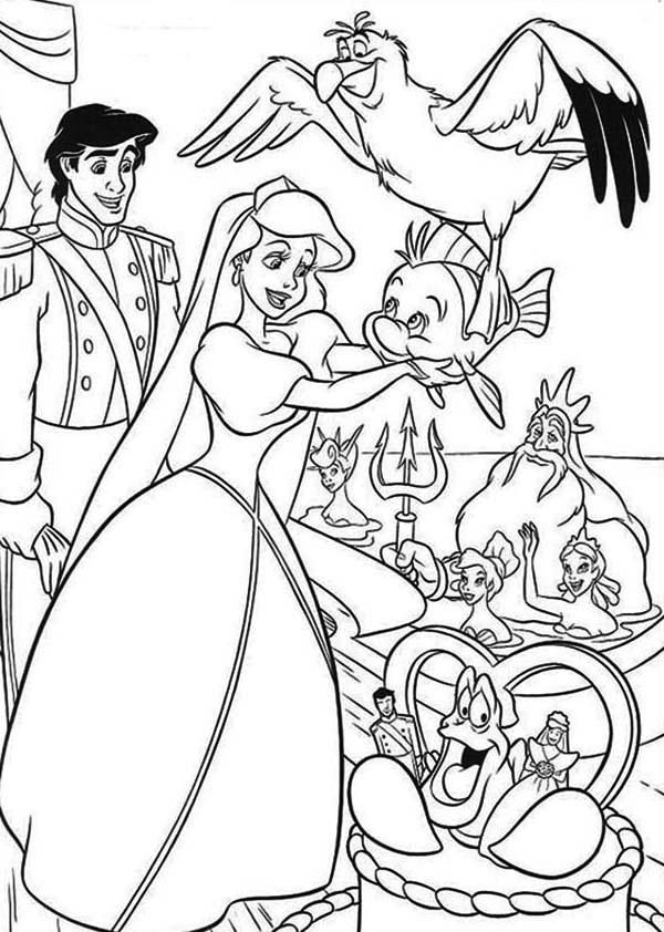 Ariel and eric coloring page car interior design for Prince eric coloring pages