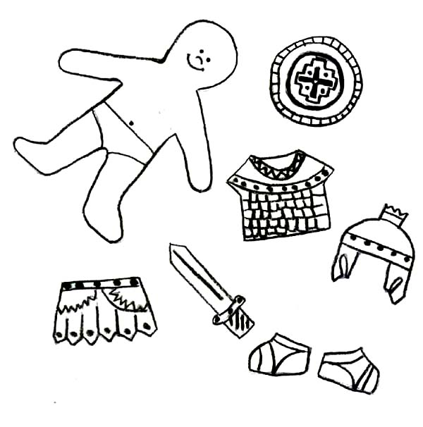 Armor of God, : Armor of God Items Coloring Page