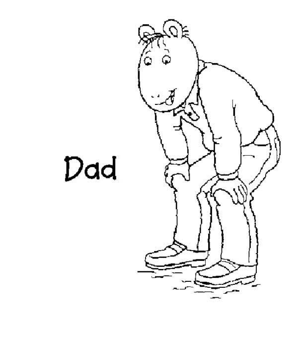 Arthur, : Arthur Dad David Read Coloring Page