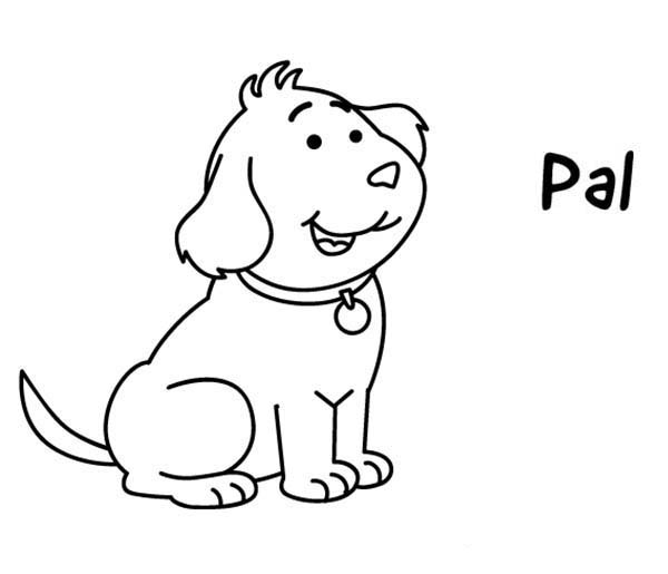 Arthur, : Arthur Pet Golden Retriever Puppy Pal Coloring Page