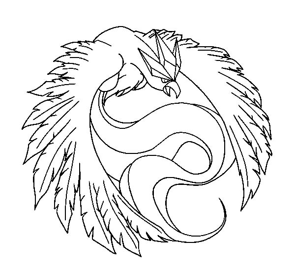 Articuno, : Articuno Fighting Style Coloring Page