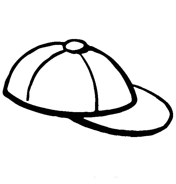 Authentic Baseball Cap Coloring Page Coloring Sun