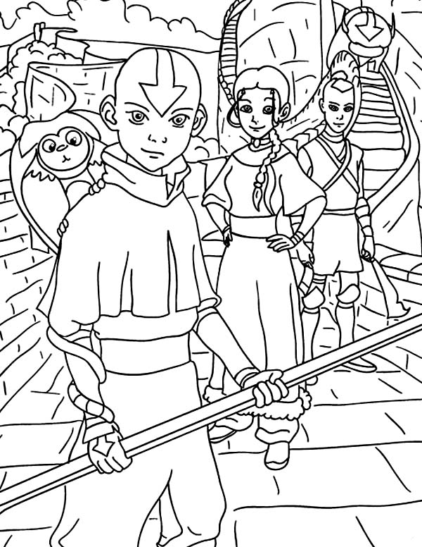 Avatar the Last Air Bender, : Avatar the Last Air Bender Coloring Page