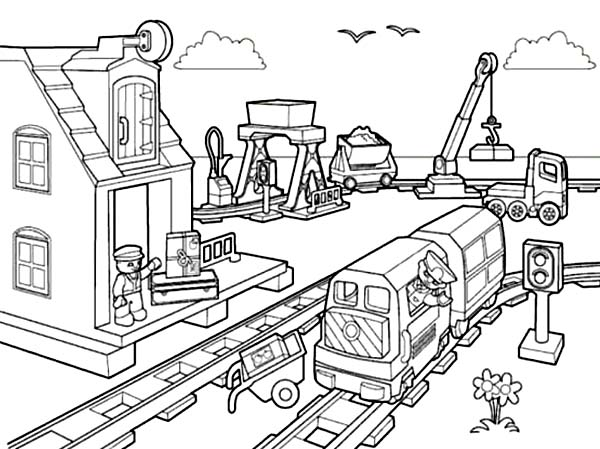 Awesome Lego City Coloring Page Coloring Sun