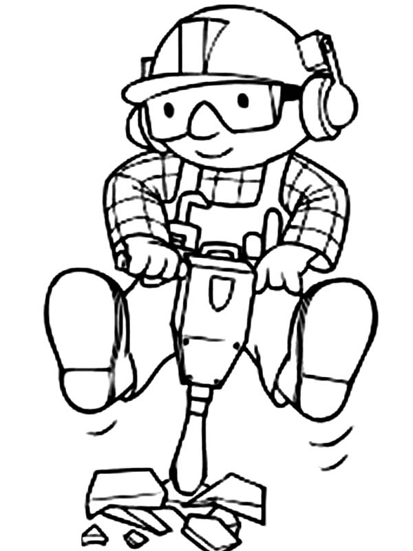 Bob the Builder, : Awesome Picture of Bob the Builder Coloring Page