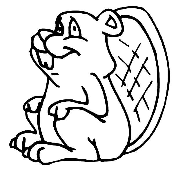 Beaver, : Awkward Smile Beaver Coloring Page