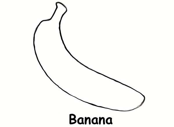 Banana, : Banana Cavendish Coloring Page