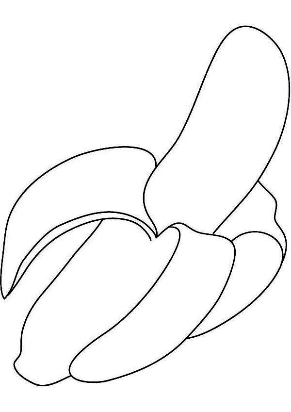 Banana Coloring Page for Kids | Coloring Sun