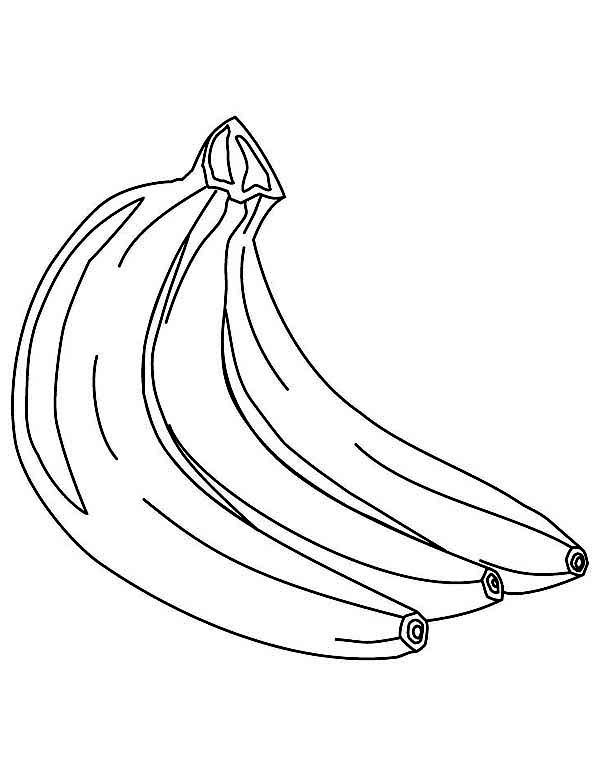 Banana, : Banana is Delicious Coloring Page