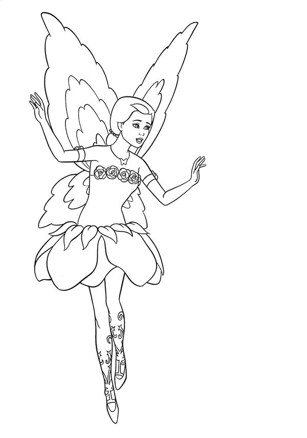 Barbie Doll, : Barbie Doll Fairy Coloring Page