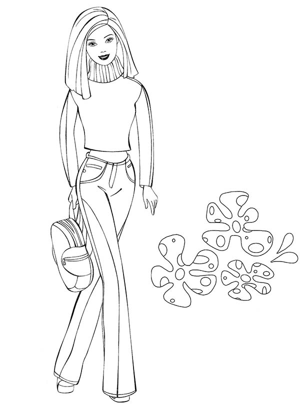 Barbie Doll, : Barbie Doll Movies Coloring Page