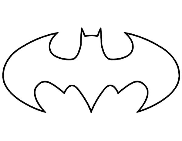 Batman, : Batman Logo Coloring Page