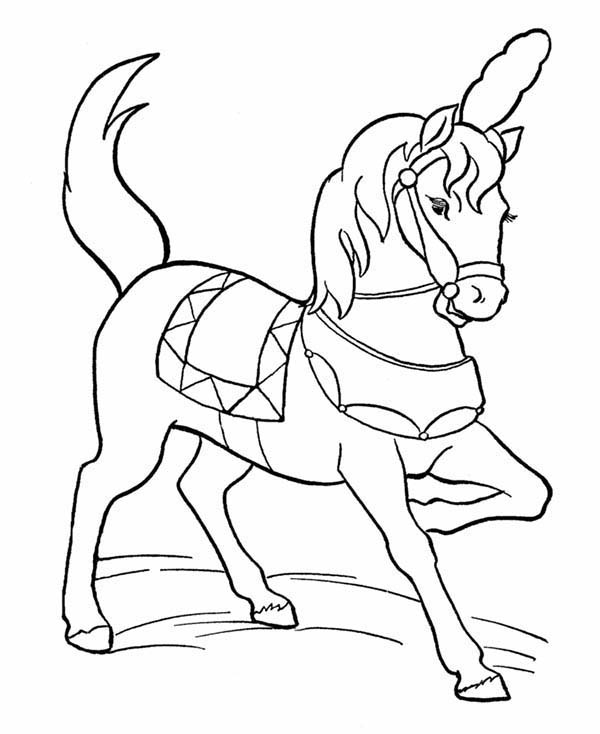 Beautiful Circus Horse Coloring Page