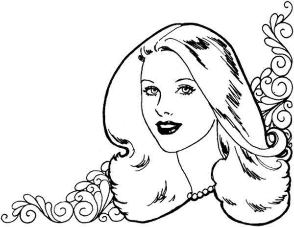 Beautiful Ladies, : Beautiful Ladies Wallpaper Coloring Page
