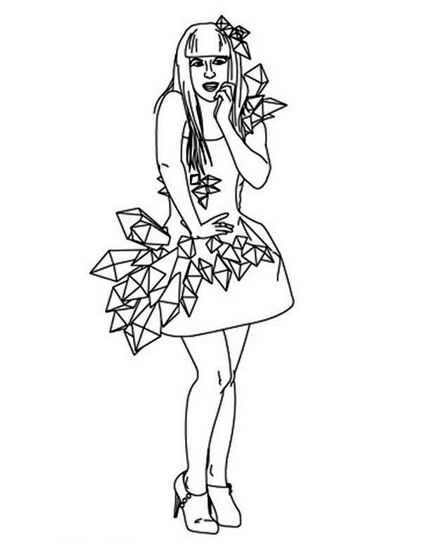Beautiful Ladies, : Beautiful Ladies Wearing Lovely Dress Coloring Page