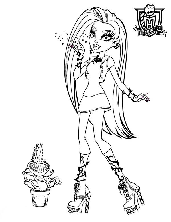 Beautiful Ladies, : Beautiful Ladies in Monster High Coloring Page