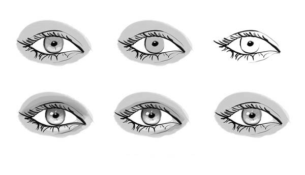 Beautiful Women Eyes Coloring Page