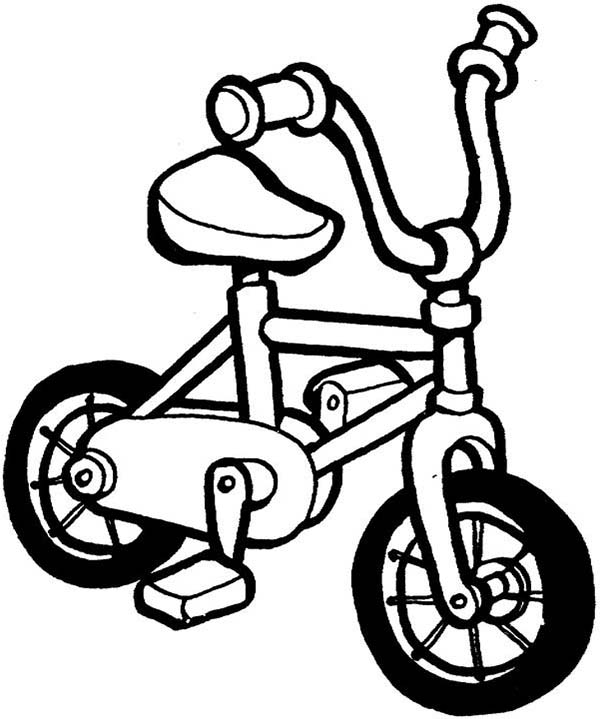 Bicycle, : Bicycle for Kindergarten Kids Coloring Page