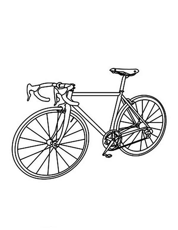 Bicycle, : Bicycle for Race Coloring Page