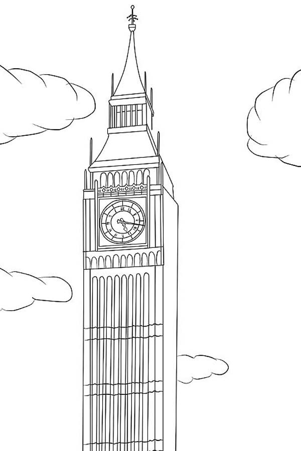 Big Ben, : Big Ben is in London Coloring Page