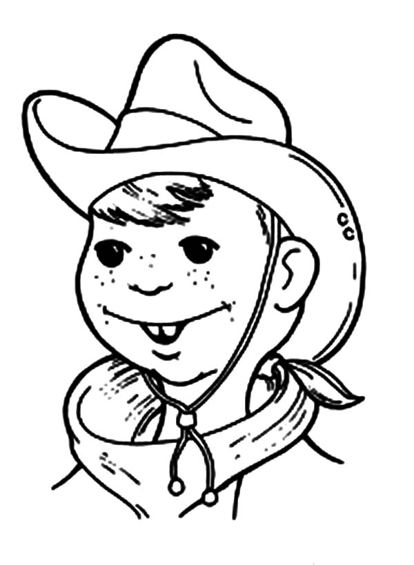 Cowboy, : Billy the Kid Cowboy Coloring Page