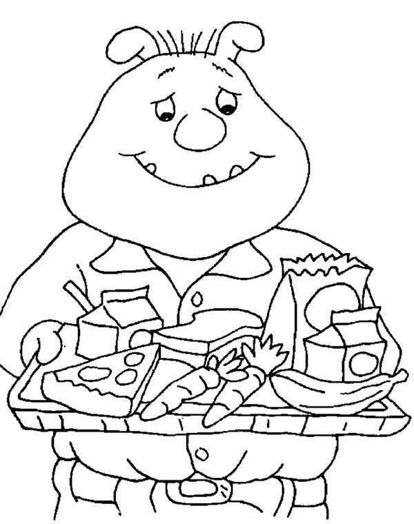 Arthur, : Binky Barnes Eat a Lot of Food in Arthur Coloring Page