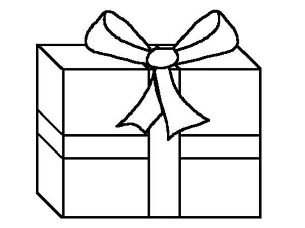 Box, : Birthday Box Present Coloring Page
