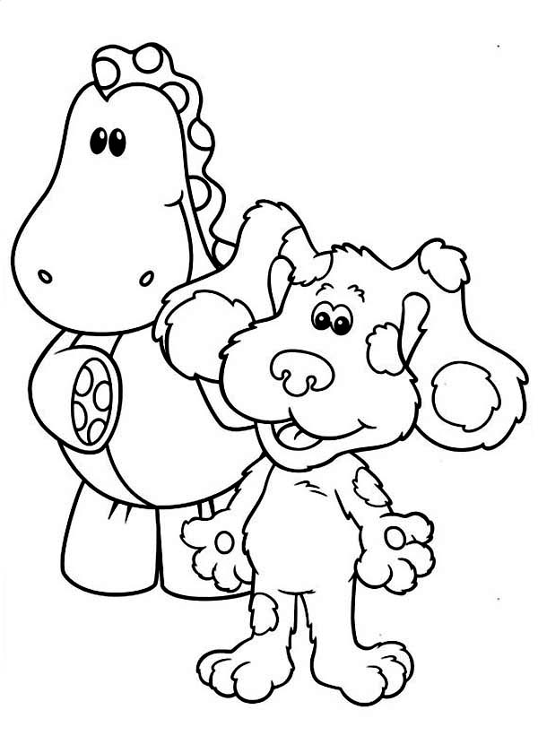 Blues Clues, : Blues Clues Movie Coloring Page