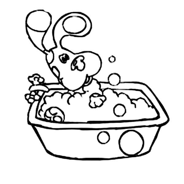 Blues Clues, : Blues Clues Take a Bath Coloring Page