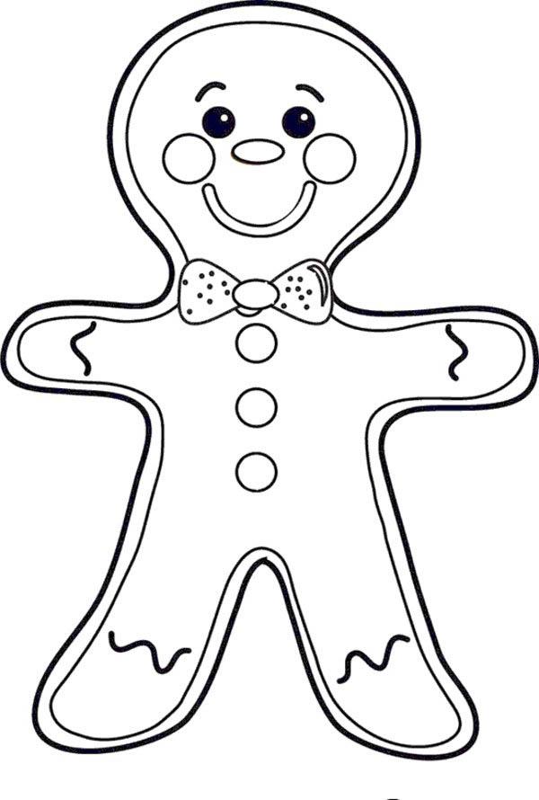 Gingerbread Men, : Blushing Gingerbread Men Coloring Page