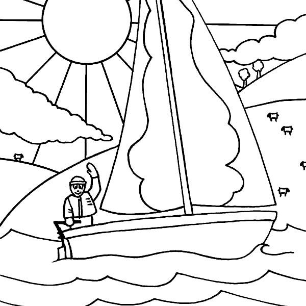 Boat, : Boat for Sport Coloring Page