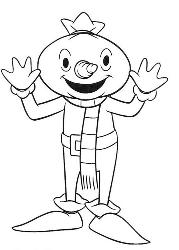 Bob the Builder, : Bob the Builder Character Spud the Scarecrow Coloring Page
