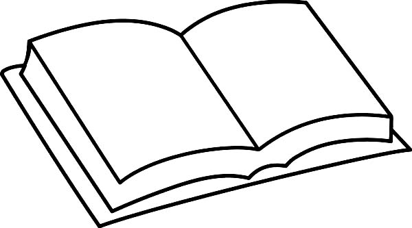 Books, : Book Coloring Page for Kids