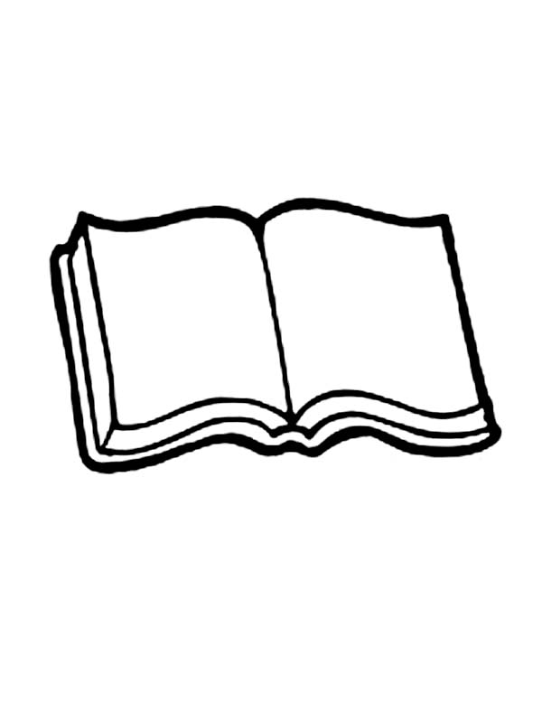 Books, : Book Picture Coloring Page