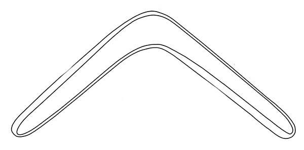 Boomerang, : Boomerang Coloring Page for Kids