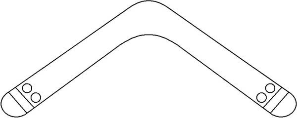 Boomerang, : Boomerang Coloring Page for Kindergarten Kids