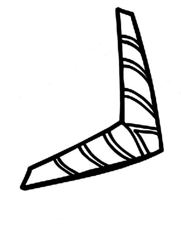 Boomerang, : Boomerang from Australia Coloring Page
