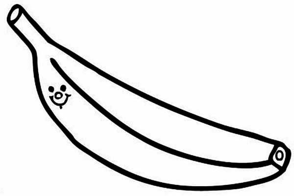 Banana, : Brazil Banana Coloring Page